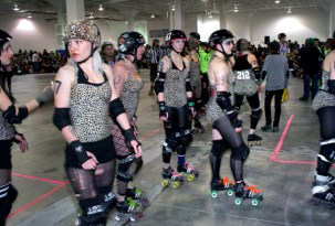 Gore Gore Rollergirls post bout
