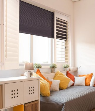 Room Darkening Shutter and Shade Shutters