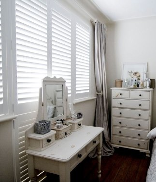 Bedroom Window & Door Wooden White Shutters