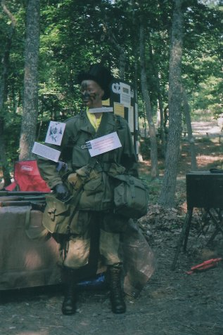 U.S. 17th Airborne Division paratrooper manikin.