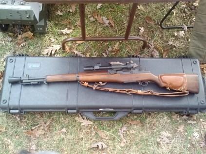 M1D Garand sniper rifle.