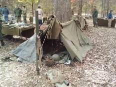 John Beasley's pup tent.