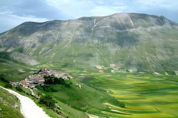houses near a mountain