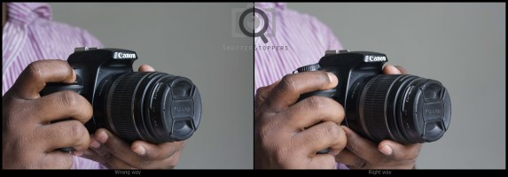 how to press shutter release button