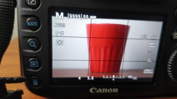 manual mode of DSLR showing exposure triangle