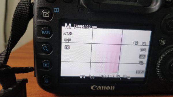 Long exposure shutter speed settings