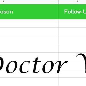 Doctor Visits Tracker