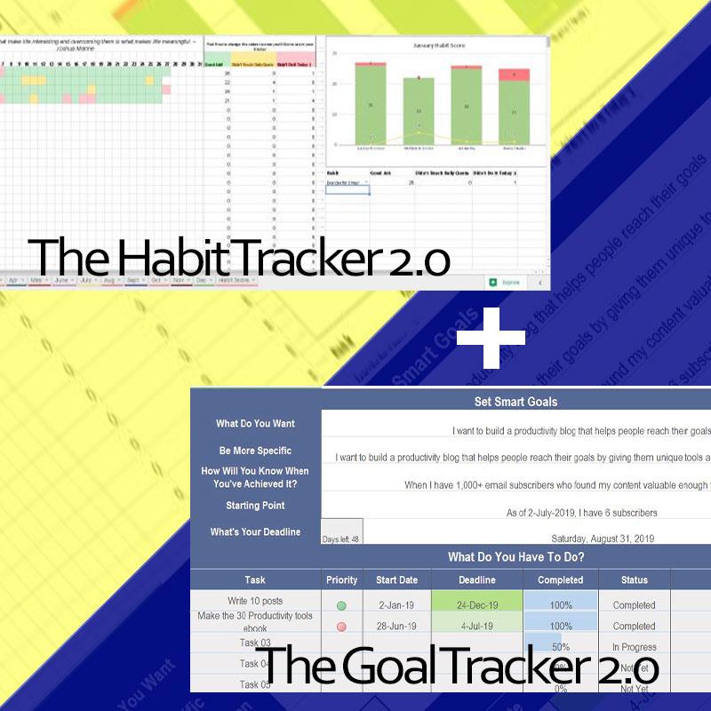 Habit Tracker Goal Tracker Bundle