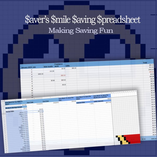 Saver's Smile Saving Spreadsheet