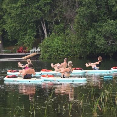 Muskoka paddleboarding