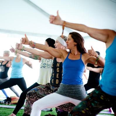 Telluride Yoga Festival class