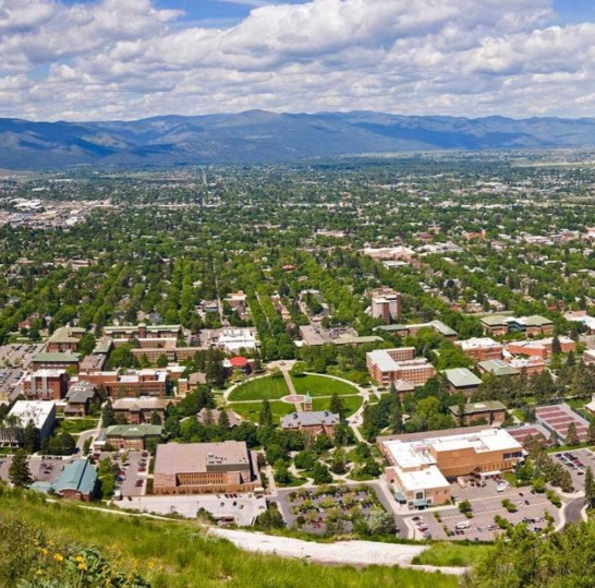 Instagrammable Missoula, MT - View From the M on Mount Sentinel