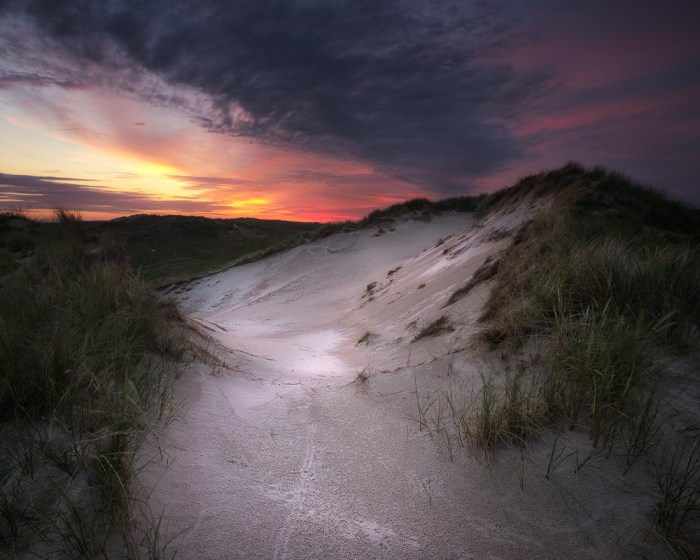 'Break of Dawn' was captured on day that turned out to be perfect in the dunes near Den Helder, the Netherlands. With the D600 at 14mm.  5s | f/18 | ISO100