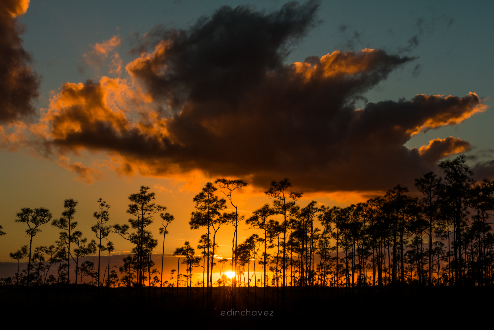 Sunset at the Everglades National Park in Florida