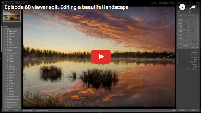 Editing a beautiful landscape