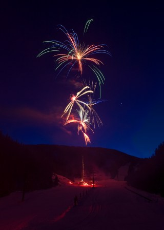 Fireworks Display in Red Lodge, Montana