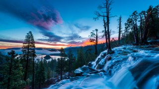 Eagle Falls Lake Tahoe at Sunrise