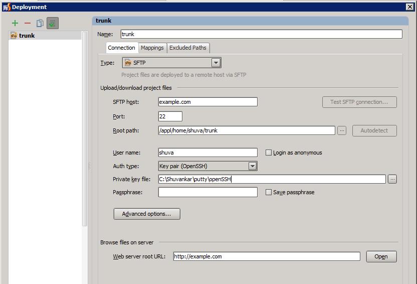 PHPStorm – How to configure deployment in server | Shuvankar