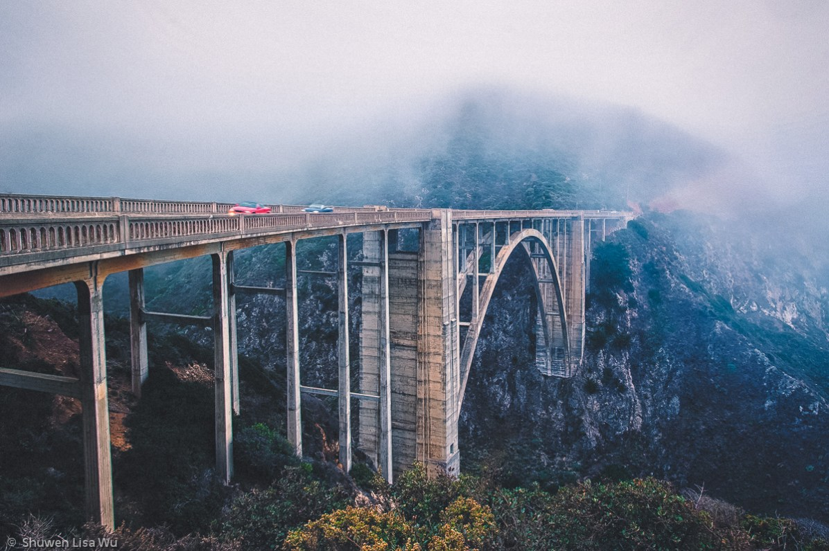 Passing - Bixby Bridge, Big Sur, California. September 2013.