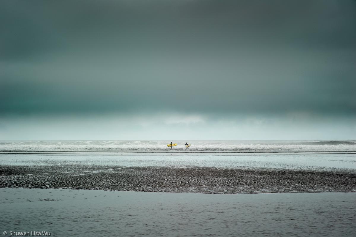 Surfers, Moonstone Beach
