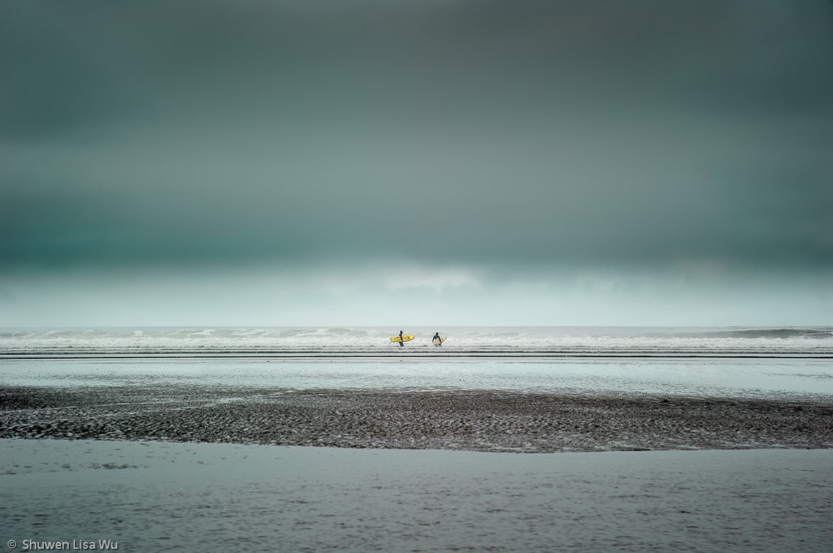 Surfers, Moonstone Beach