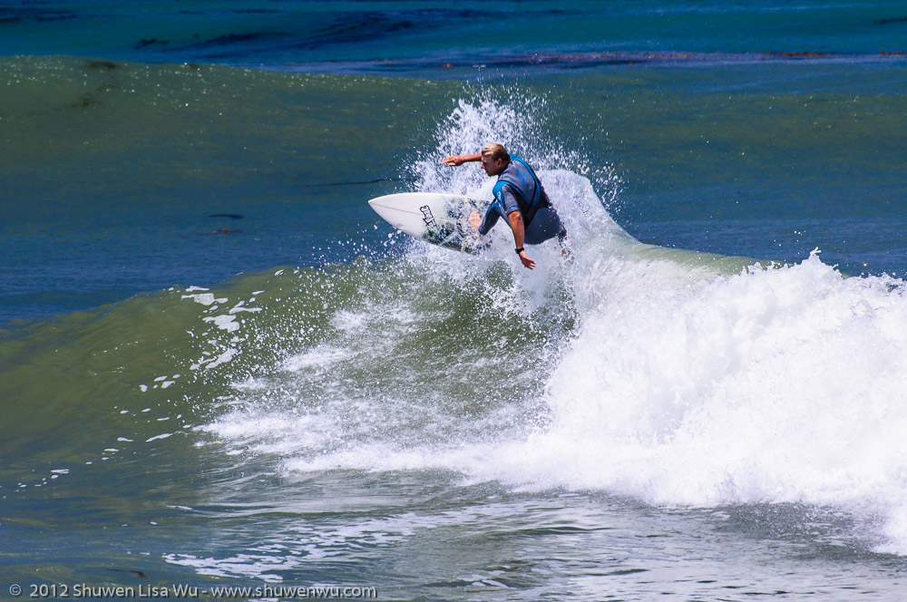 Surfer at Point Loma