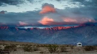 Sunset over Santa Rosa Mountains