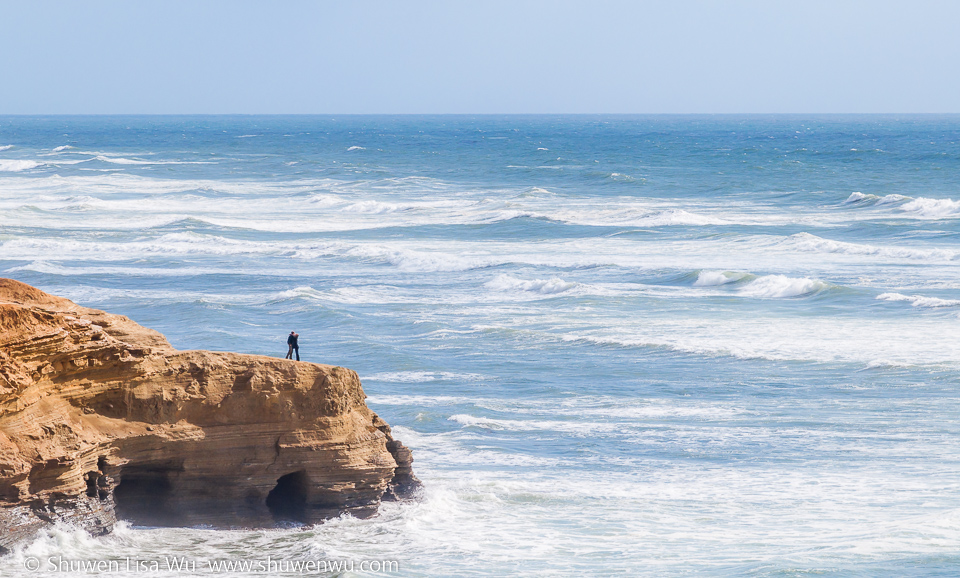 Just you and me -- Sunset Cliffs, San Diego, CA.