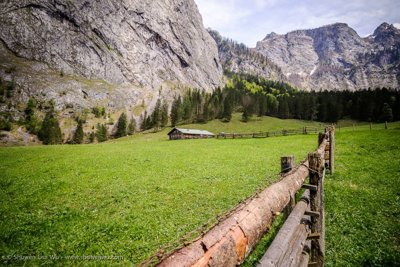 Fischunkelalm at Obersee, Nationalpark Berchtesgaden, Bavaria, Germany.