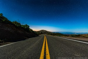Sunrise Highway during a Moonlight Night at Mt. Laguna