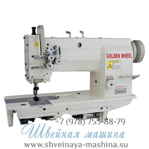 Двухигольная промышленная швейная машина GOLDEN WHEEL CS-8162S 1
