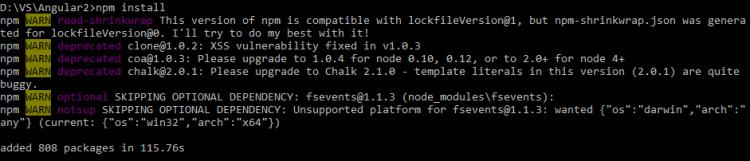 Restore npm libs
