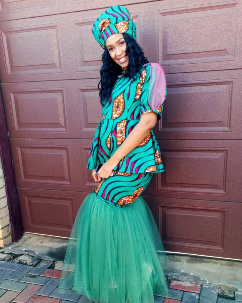 South African Traditional Dresses 2021 For Women's (1)