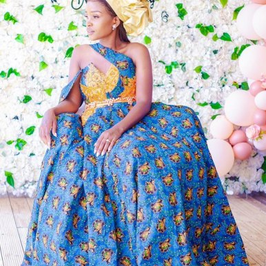 South African Shweshwe Dress for Traditional Ceremonies (5)