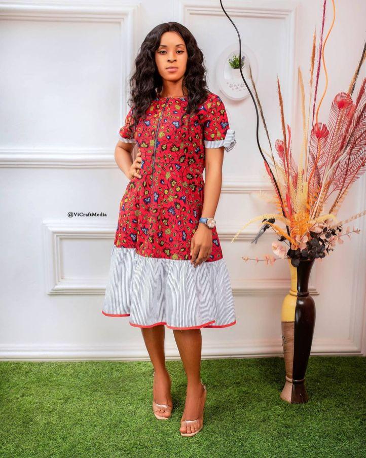 ANKARA SHORT DRESSES STYLE 2021 (1)