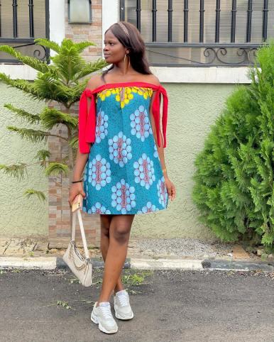 ANKARA SHORT DRESSES STYLE 2021 (15)