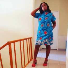 AFRICAN ANKARA SHORT GOWN (4)