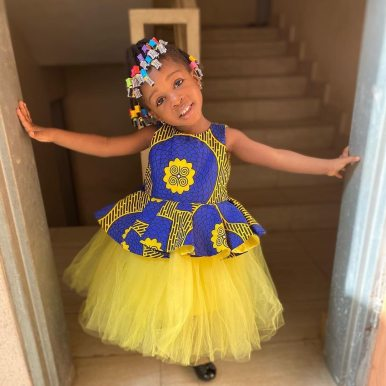 ANKARA FEMALE BABY DRESSES (8)