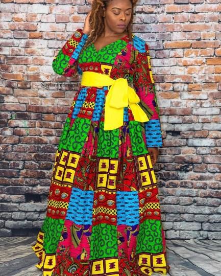 DAZZLING ANKARA LONG DRESSES COLLECTION 2021 (12)