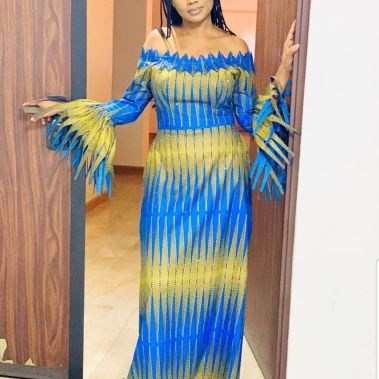 DAZZLING ANKARA LONG DRESSES COLLECTION 2021 (2)