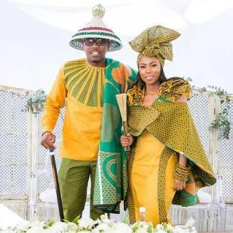 shweshwe traditional wedding dresses 2021 (4)