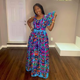 Amazing Ankara Dresses Gown Styles 2021 For Ladies (10)