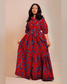 Amazing Ankara Dresses Gown Styles 2021 For Ladies (7)