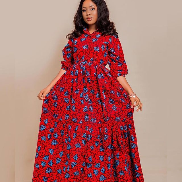 Amazing Ankara Dresses Gown Styles 2021 For Ladies (9)