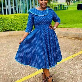Perfect Traditional Shweshwe Dresses 2021 (11)