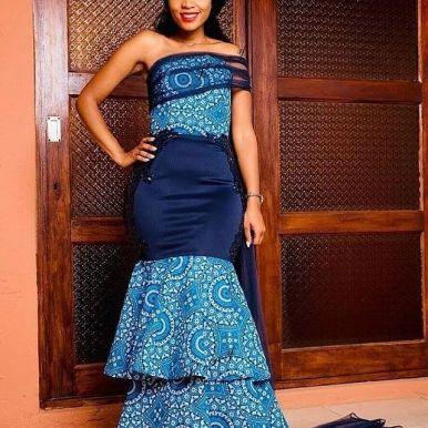 SHWESHWE SOUTH AFRICAN TRADITIONAL DRESSES 2021 (9)