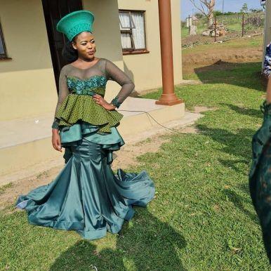 Traditional Shweshwe Dresses 2021 for Wedding (2)