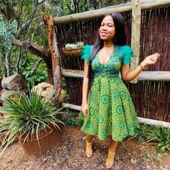 Unique Shweshwe Dresses 2021 For Wedding (1)