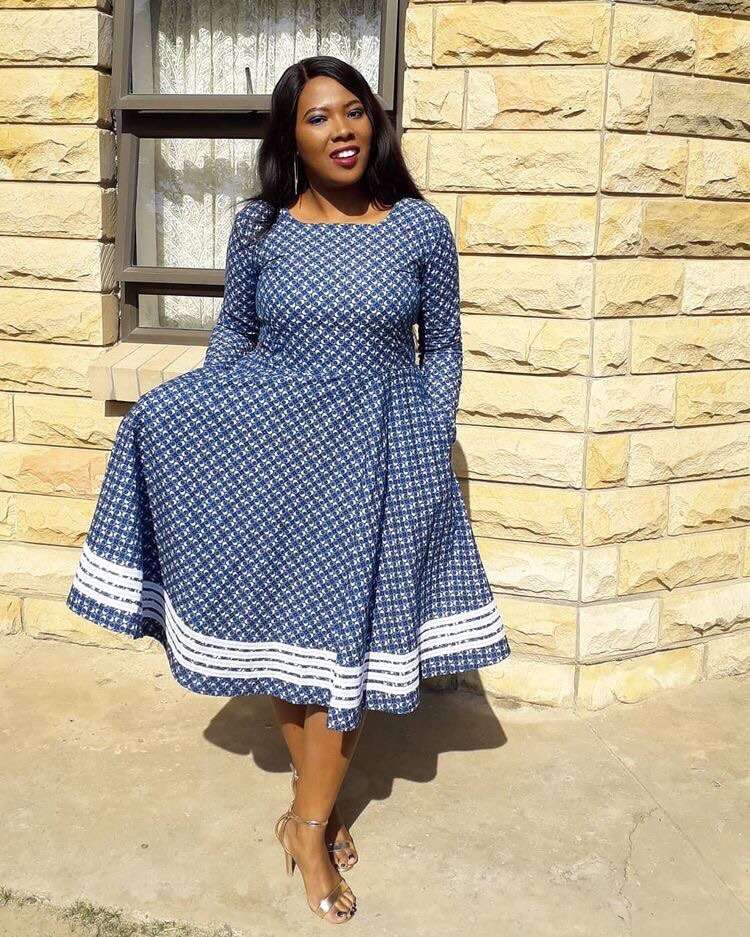 Unique Shweshwe Dresses 2021 For Wedding (10)