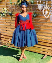 beautiful shweshwe dresses designs 2021 (2)